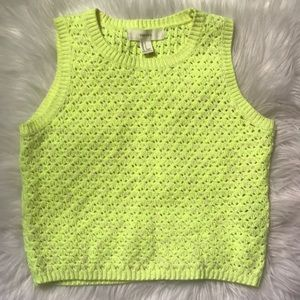 Forever 21 Neon Open-Knit Top